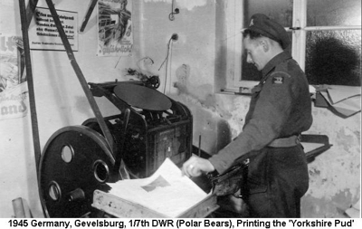 1945 Germany Gevelsburg Printing the Yorkshire Pud