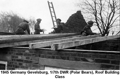 1945 Germany Gevelsburg Roof Builders Course