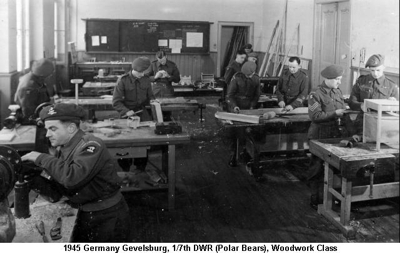 1945 Germany Gevelsburg Woodwork Course