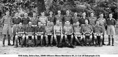 1945 India Dehra Dun Officers Mess Members 01 Lt-Col JH Dalrymple