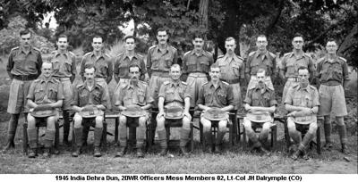 1945 India Dehra Dun Officers Mess Members 02 Lt-Col JH Dalrymple