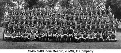 1946-02-00 India Meerut 2DWR D Company