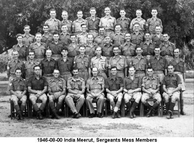 1946-08-00 India Meerut Sergeants Mess Members