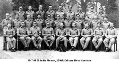 1947-02-00 India Meerut 2DWR Officers Mess Members