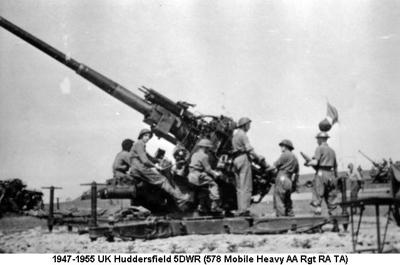 1947-1955 UK Huddersfield 5DWR (578 Mobile Heavy AA Rgt RA TA)