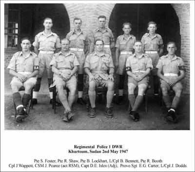 1947 Sudan Khartoum Regimental Police
