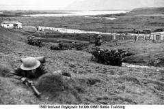 1940 Iceland Reykjavic 1st 6th DWR Battle Training