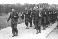 1940 UK Langside 9th DWR Marching Off Colour Parade (2Lt Girling)