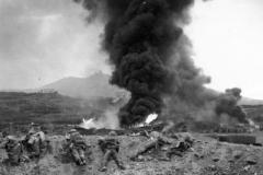 1942 Pantelleria Island 1DWR men of A Coy Advancing towards Semaphore Hill