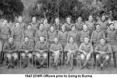 1943 2DWR Officers prior to Going to Burma