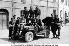 1944 Italy 58th ATK (1st 4th DWR) 229 Battery B Troop Group with Jeep
