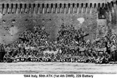 1944 Italy 58th ATK (1st 4th DWR) 229 Battery