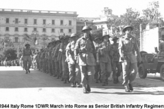 1944 Italy Rome 1DWR March in as Senior British Infantry Regiment