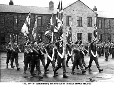 1952-09-14 Halifax Handing in Colours prior to Korea