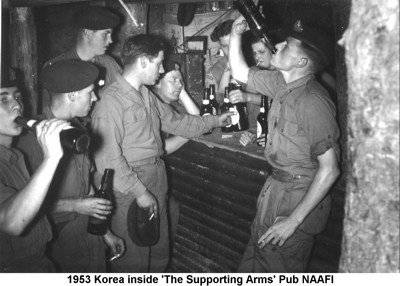 1953 Korea Inside The Supporting Arms Pub