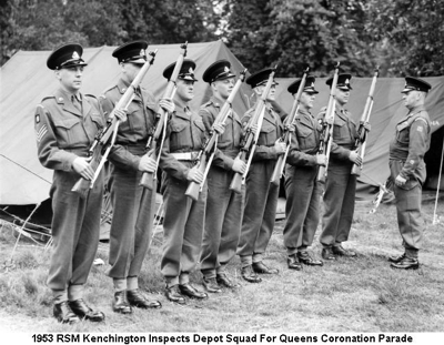 1953 RSM Kenchington Inspecting Guard for Coronation