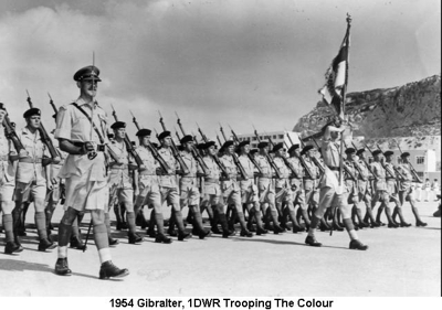 1954 Gibralter Trooping the Colour 01