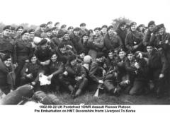 1952-09-22 UK Pontefractl 1DWR Assault Pioneer Platoon