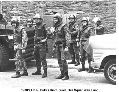 1970s UK NI Dukes Riot Squad