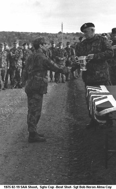 1975 02-19 SAA Shoot Sgts Cup -Best Shot- Sgt Bob Heron Alma Coy