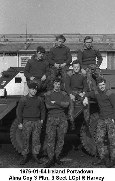 1976-01-04 Ireland Portadown Alma Coy 3 Pltn, 3 Sect LCpl R Harvey