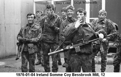 1976-01-04 Ireland Somme Coy Bessbrook Mill 12a Names