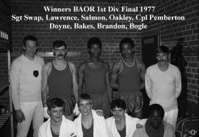 1977 Germany BAOR Boxing Championships 1DWR Winners