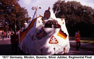 1977 Minden Silver Jubilee Regimental Float
