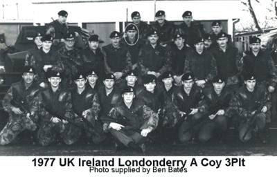 1977 UK NI Londonderry A Coy 3 Plt