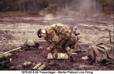 1978-03 & 04 Trauenlager - Mortar Platoon Live Firing TL C-10 Mortar Crew