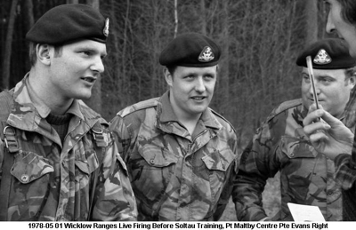 1978-05 01 Wicklow Ranges Live Firing 01 Pt Maltby Centre Pte Evans Right