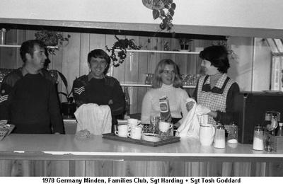 1978 Germany Minden Families Club Sgt Harding + Sgt Tosh Goddard