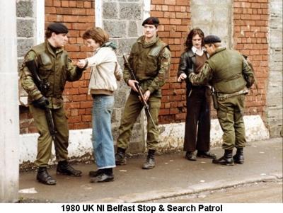 1980 UK NI Belfast Stop & Search Patrol