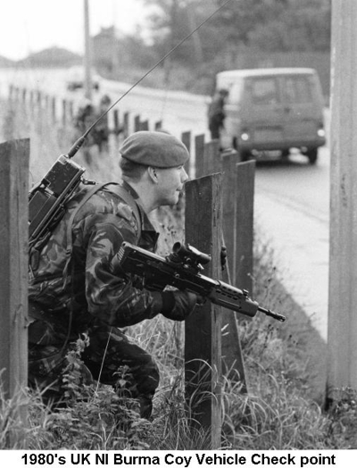 1980s UK NI Burma Coy Vehicle Check