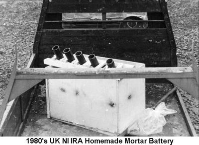 1980s UK NI IRA Homemade Mortar Battery