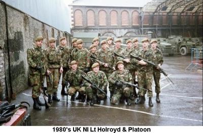 1980s UK NI Lt Holroyd & Platoon