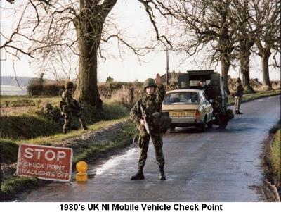1980s UK NI Mobile Vehicle Check Point