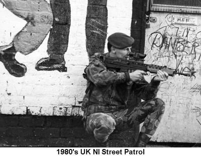 1980s UK NI Street Patrol 01