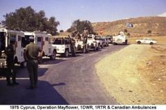 1975 Cyprus Operation Mayflower 1DWR 1RTR & Canadian Ambulances