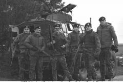 1976-04 Ireland Portadown Alma Coy Culvert Bomb 08 A Coy Pte Hepworth MM on Left