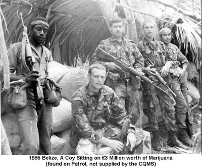 1985 Belize A Coy Sitting on £3 Million worth of Marijuana