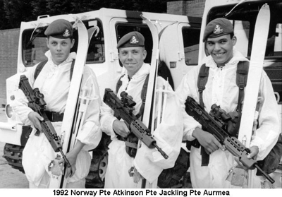 1992 Norway Pte Atkinson Pte Jackling Pte Aurmea