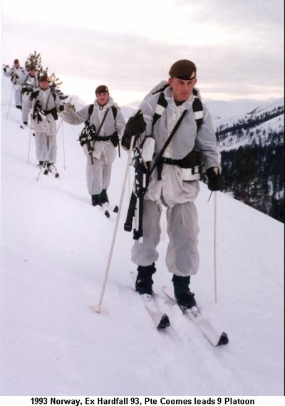 1993 Norway Ex Hardfall 93 - Pte Coomes leads 9 Plt