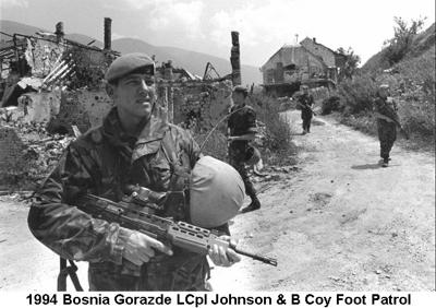 1994 Bosnia Gorazde LCpl Johnson & B Coy Foot Patrol