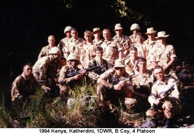 1994 Kenya Katherdini 1DWR B Coy 4 Platoon