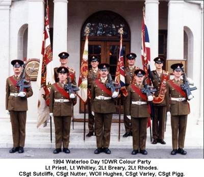1994 UK 1DWR Waterloo Day Colour Party