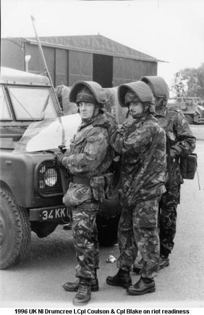 1996 UK NI Drumcree LCpl Coulson & Cpl Blake on Riot Readiness