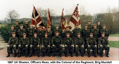 1997 UK Weeton, 04 Officers Mess with the Colonel of the Regiment