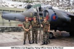 1985 Belize LCpl Baggeley Flying Officer Hamer & Pte Stead