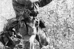 1985 Belize Practicing quick firing standing shooting